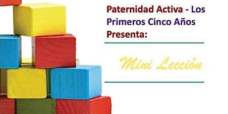 Paternidad Activa Los Primeros Cinco Años: la Preparación Escolar entradas