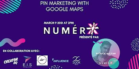 Pin Marketing using Google Maps billets