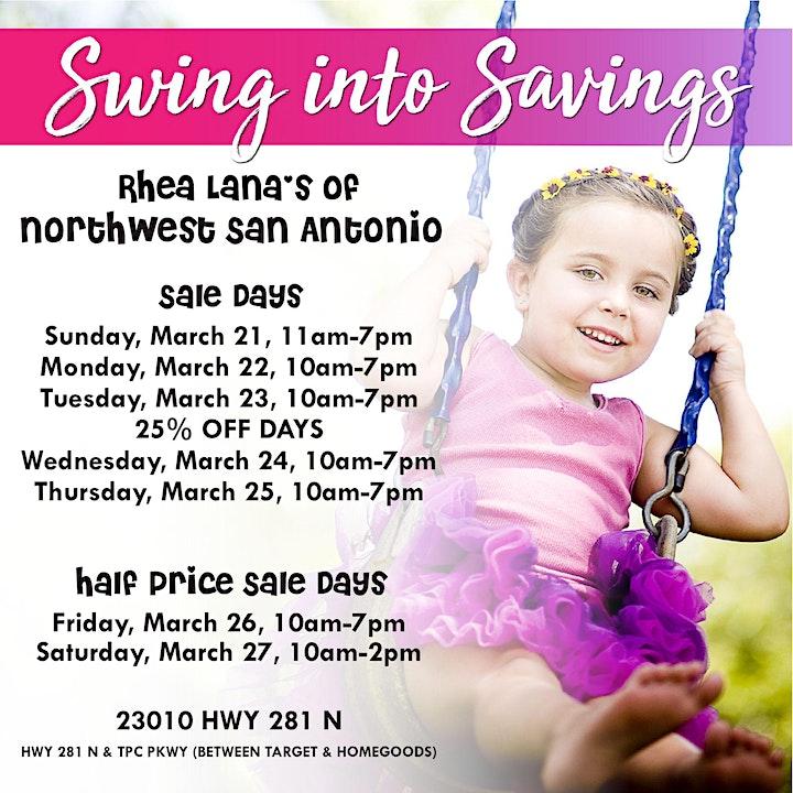 Rhea Lana's of Northwest San Antonio Spring & Summer Kids' Consignment Sale image