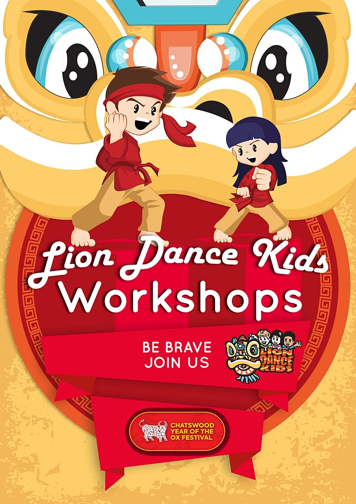 Lion Dance Kids Workshop – Chatswood Year of the Ox Festival. image
