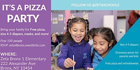 Free Diapers + Masks + Pizza: Zeta Bronx 1 Elementary tickets