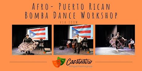 Afro- Puerto Rican Bomba Dance  Class tickets