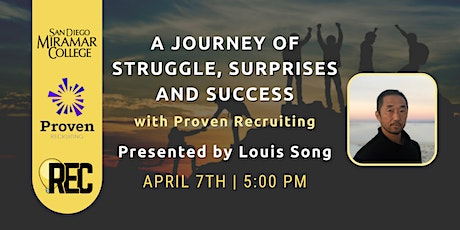 A Journey of Struggle, Surprises, and Success with Louis Song tickets