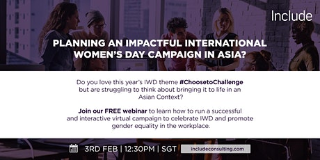 Planning an Impactful International Women's Day in Asia tickets