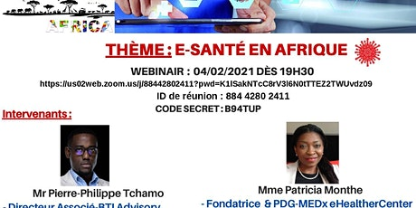 Digital afterwork TelecomParis Africa E-sante en Afrique billets