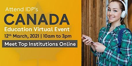 Attend IDP's Canada Education Virtual Fair tickets
