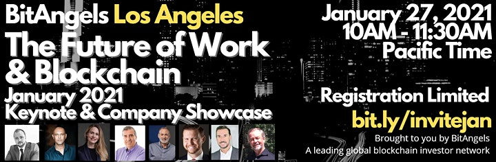 """BitAngels Los Angeles: """"Blockchain and the Future of Work"""" image"""