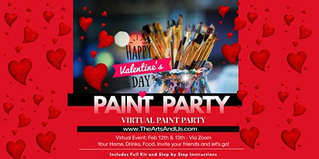 Valentine's Day 2021 Weekend-Virtual Paint and Sip Event tickets