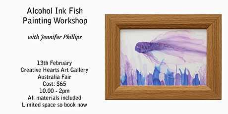 Alcohol Ink Fish Painting  Workshop tickets