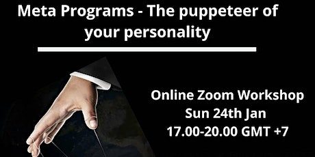 Meta Programs - The puppeteer of your personality tickets