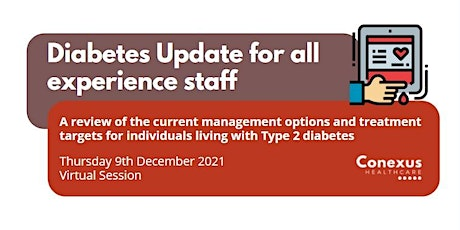 Diabetes Update for all experience staff tickets