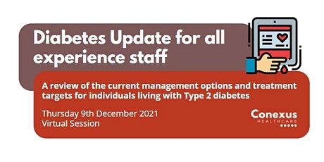 Diabetes Update for all experience staff entradas