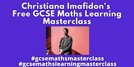 Christiana Imafidon's Learning Masterclass in Maths (GCSE) tickets