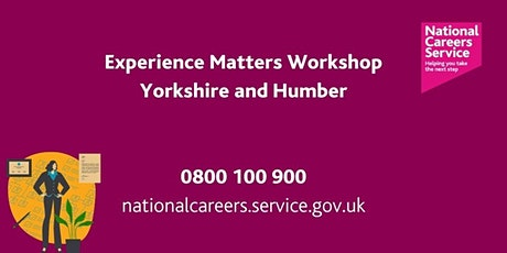 Experience Matters,  Mid Life Career Planning Workshop – Hull & Humber tickets