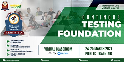 Continuous Testing Foundation Training Jakarta, March 24th 2021
