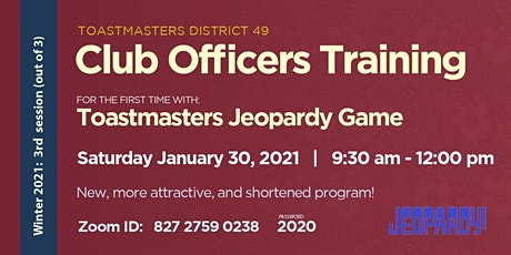 VIRTUAL Round 2 District 49 Club Officers and Membership Training tickets