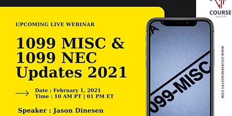 Forms 1099 MISC and 1099 NEC Reporting Updates for 2021 tickets