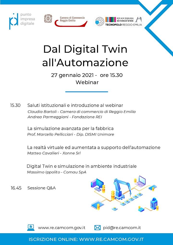 "Immagine WEBINAR ""DAL DIGITAL TWIN ALL' AUTOMAZIONE"" - 27 GENNAIO 2021"