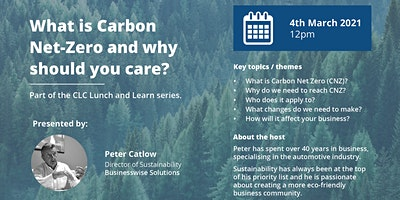 Chamber Low Carbon LIVE Lunch and Learn – What is  Carbon Net Zero?