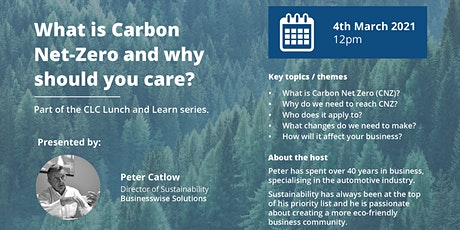 Chamber Low Carbon LIVE Lunch and Learn - What is  Carbon Net Zero? tickets