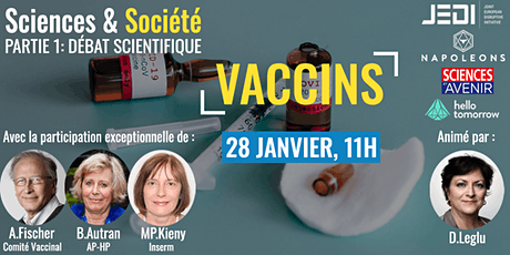 Sciences & Société — Grand Débat scientifique sur les vaccins tickets