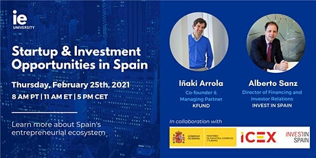 Startup & Investment Opportunities in Spain - USA & Canada tickets