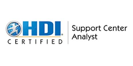 HDI Support Center Analyst  2 Days Training in Kitchener tickets