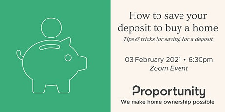 How to save your deposit to buy a home tickets
