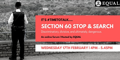 #TimeToTalk: Section 60 and the (mis)use of police powers. tickets