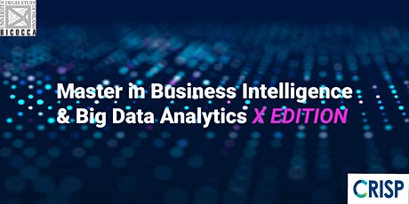Presentazione Master in Business Intelligence & Big Data Analytics XEdition biglietti
