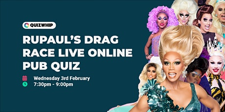 RuPaul's Drag Race - Live Online Pub Quiz from QuizWhip tickets
