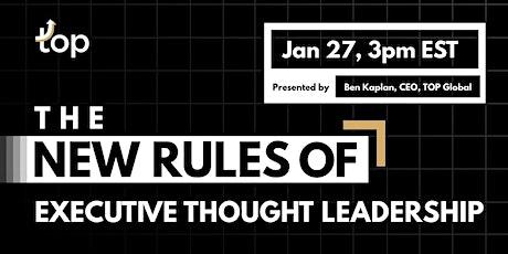 Atlanta Webinar-The New Rules of Executive Thought Leadership tickets