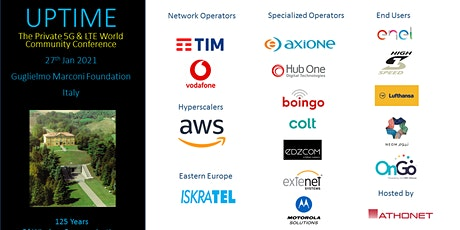 UPTIME 2021 - The Annual Private 5G & LTE World Community Conference tickets