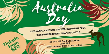 Australia Day @ Elite Gold Coast Hotel 4* tickets