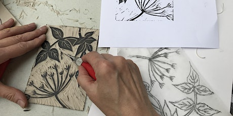 Linocut for beginners ONLINE tickets
