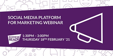 Social Media Platforms for Marketing Webinar tickets