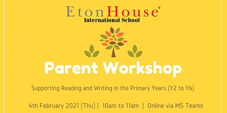 Parent Workshop: Supporting Reading and Writing in the Primary Years tickets