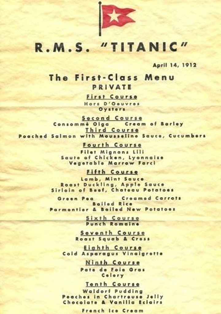 Last Dinner on the Titanic with Chef Nick image
