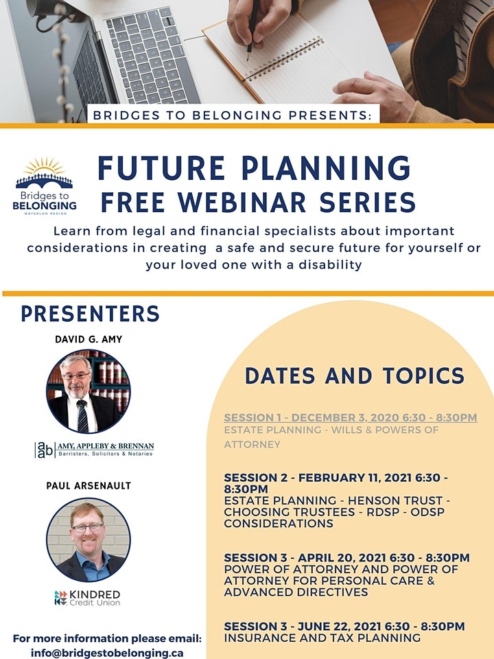 Future Planning Webinar Series image