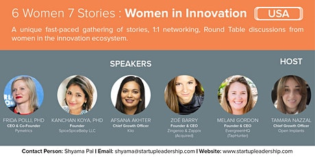 6 Women 7 Stories:   Women in Innovation (SLP USA) tickets