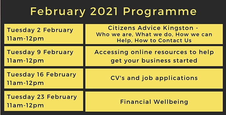 Financial Wellbeing - Kingston Libraries Virtual Job Club image