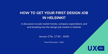 How to get your first design job in Helsinki? tickets