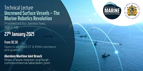 WEBINAR: Uncrewed Surface Vessels – The Marine Robotics Revolution tickets