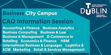 TU Dublin City Campus Business CAO Information Session entradas