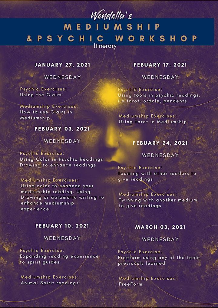 Wendella's Psychic & Mediumship 6 Week Workshop image