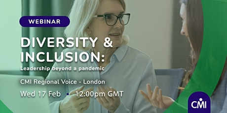 Diversity & Inclusion: Leadership beyond a pandemic tickets