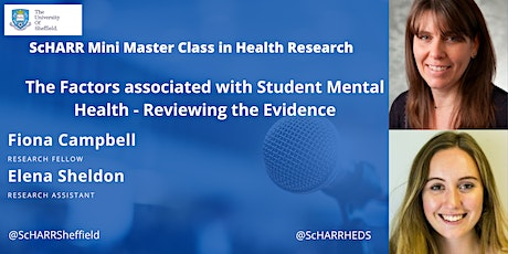The Factors associated with Student Mental Health - Reviewing the Evidence tickets