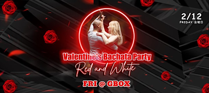 """Valentine's Bachata Party """"Red and White"""" image"""