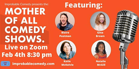 The MOTHER of All Comedy shows: Live on Zoom tickets