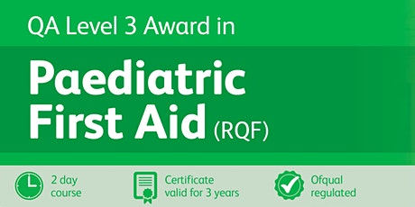 Paediatric First Aid Level 3 (RQF) - Blended Learning (1 day) tickets